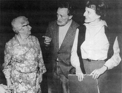 Jonny unterhält sich in Würzburg mit Marianne Frostig und Susanne Naville, 1982